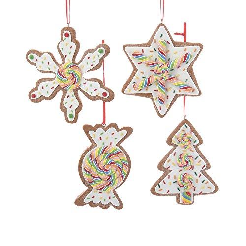 Kurt Adler YAMD3398 Ornament Set, 4 Piece