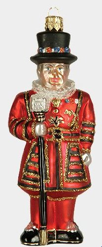 Pinnacle Peak Trading Company Beefeater Tower of London Guard Guardian Polish Glass Christmas Ornament