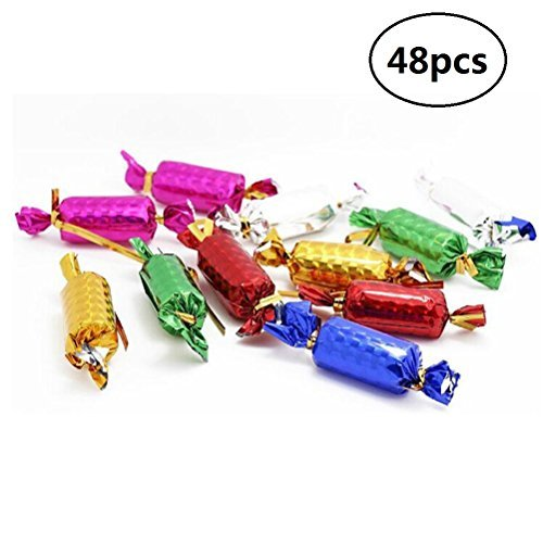 EBTOYS Christmas Tree Decoration Foam Hanging Candies for Xmas Tree Oraments,48 Pack,Assortment