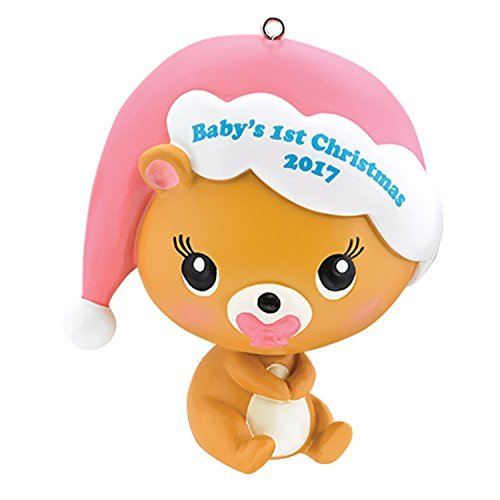 Carlton Heirloom Ornament 2017 Baby's First Christmas – Girls – #CXOR009M