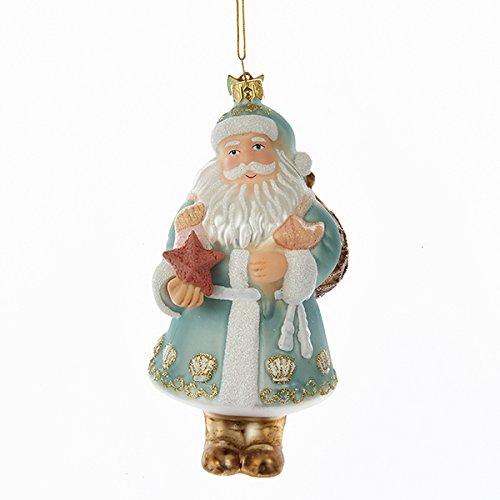Kurt Adler 5In Noble Gems Glass Nautical Santa Ornament