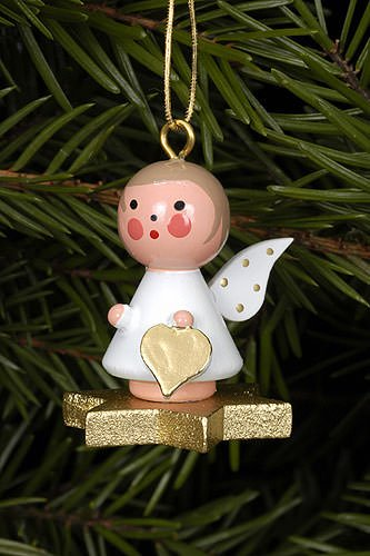 Christian Ulbricht Tree Ornament – Angel on Star – 2,9×3,0 cm / 1×1 inch
