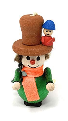 Steinbach Orange Scarf Ornament Hat Wood Christmas Ornament