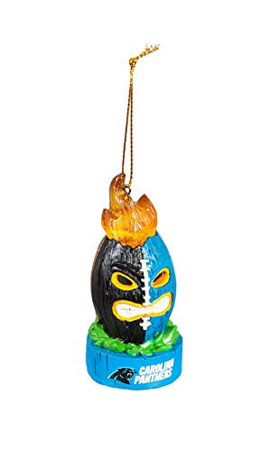 Team Sports America Carolina Panthers Lit Team Tiki Ball Ornament
