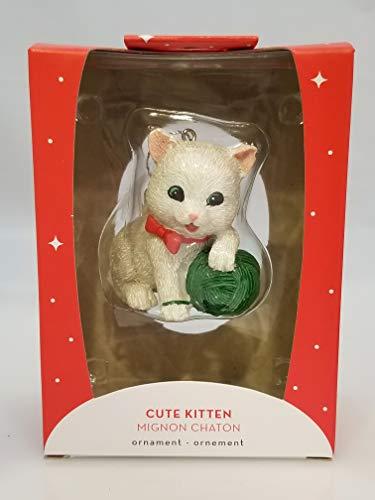 Carlton Heirlom Ornament 2018 Cute Kitten – Kitty with Yarn – #CXOR038O