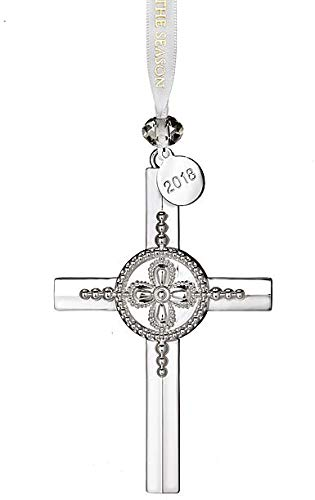 Waterford 2018 Silver Cross Ornament