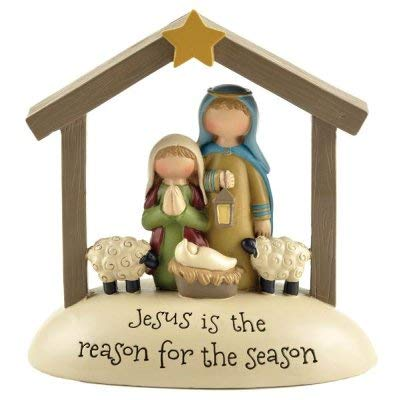 Blossom Bucket 188-11965 Jesus is The Reason for The Season Nativity Figurine