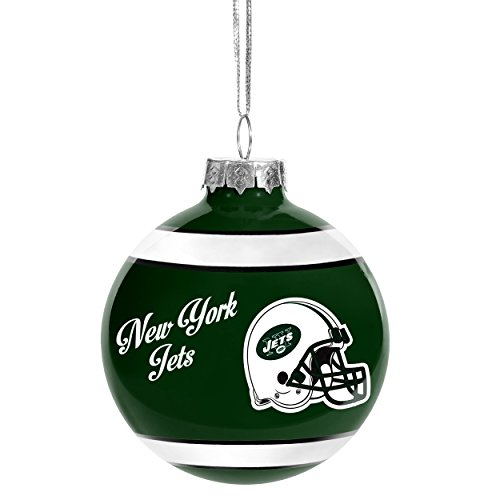 Forever Collectibles NFL Christmas Holiday Glass Ball Ornament-New York Jets