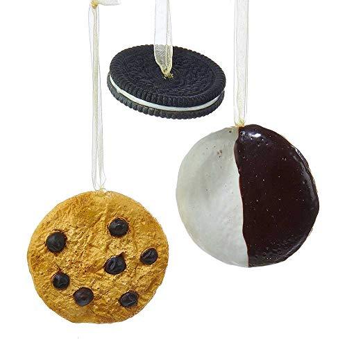 Kurt Adler 2.48 3.11-Inch Cookie Ornament Set of 3, 3 Piece