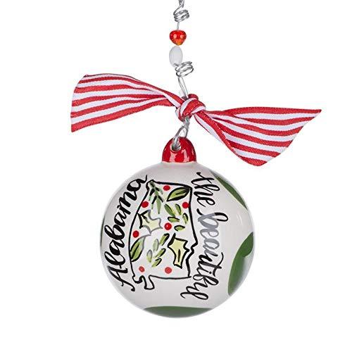 Glory Haus Alabama The Beautiful Ball Ornament 4″ Round