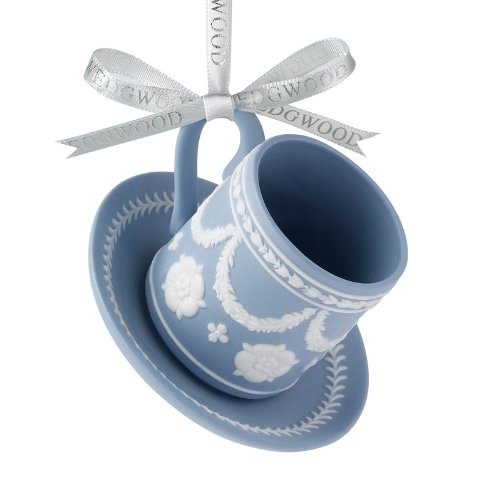 Wedgwood Holiday Iconic Ornament Teacup & Saucer Can Shape