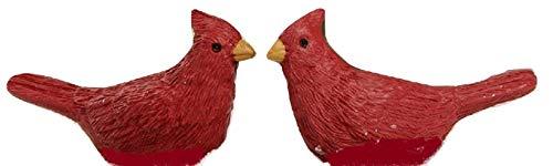 Blossom Bucket Set of 2 Mini Red Birds-Cardinals