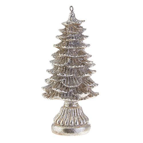 RAZ Imports Silver Resin Christmas Tree Ornament