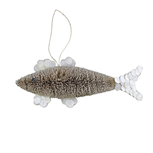 Beachcombers SS-BCS-20365 Bottle Brush Shark Ornament
