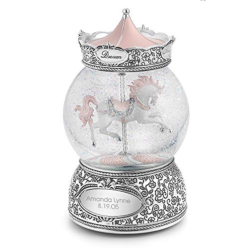 Things Remembered Personalized Carousel Horse Musical Snow Globe with Engraving Included