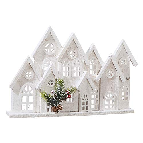 RAZ Imports Cluster of Houses Lighted Holiday Figure – 11-in