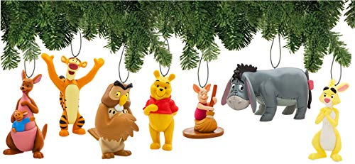 Disney Winnie The Pooh Ornament Set Deluxe Christmas Holiday Tree Hanging Ornaments