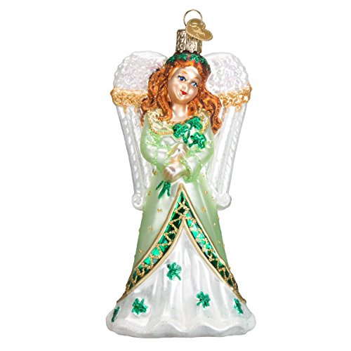 Old World Christmas Ornaments: Irish Angel Glass Blown Ornaments for Christmas Tree