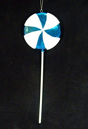 Vickerman Huge Candy Fantasy Blue Cotton Lollipop Christmas Decoration Ornament, 40″