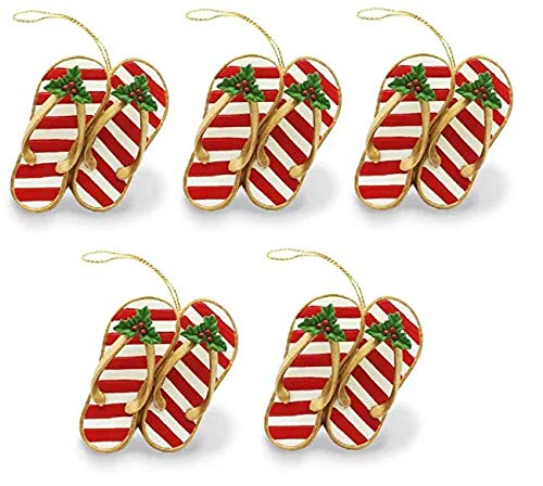 Island Heritage Festive Slippers Ornament ((5.Units))