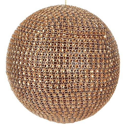 Raz 4.5″ Glamour Time Sparkling Gold Rhinestone Ball Christmas Ornament