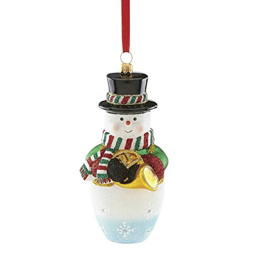 Reed & Barton Blown Glass Snowman Ornament