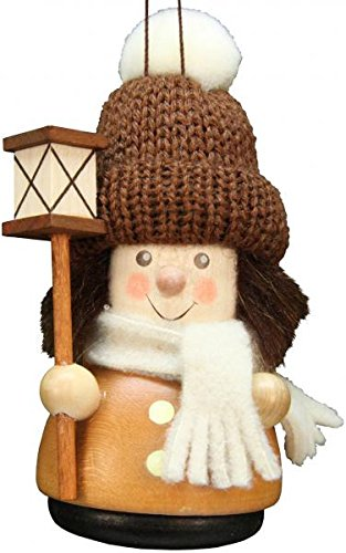 Alexander Taron 15-0214 Christian Ulbricht Ornament-Lantern Boy-Natural-3.5″ H W x 2″ D, Brown
