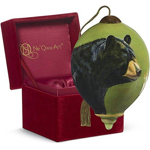 Ne'Qwa Art Christmas Gift, Rebecca Latham black Bear, Glass, 7161132