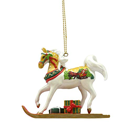 Enesco Trail of Painted Ponies Sleigh Ride Hanging Ornament 2.25″ Multicolor