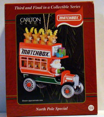 Carlton Cards Matchbox Nort Pole Special Christmas Ornament