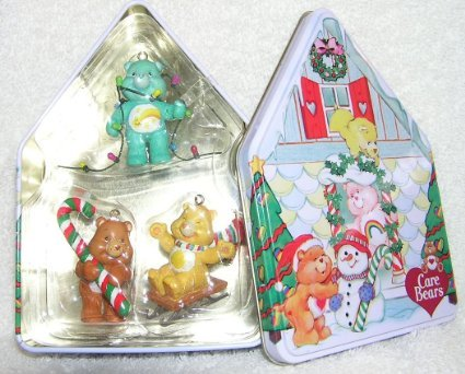 Carlton Cards Care Bears Holiday Ornament Set Includes Three Ornaments, Funshine Bear, Tenderheart Bear and Wish Bear in Collector Tin 2003