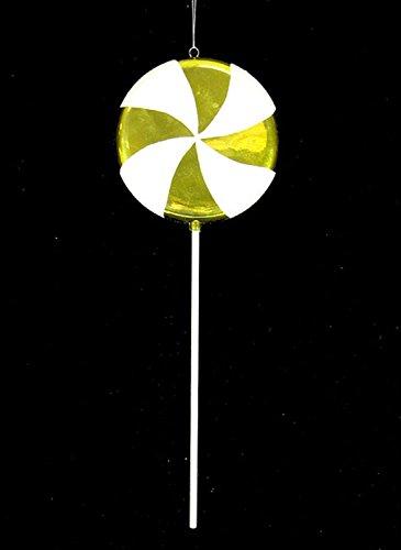 Vickerman Huge Candy Fantasy Key Lime Swirl Lollipop Christmas Decoration Ornament, 40″