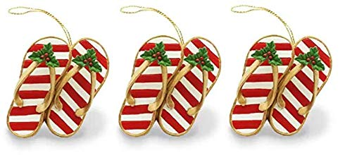 Island Heritage Festive Slippers Ornament ((3.Units))