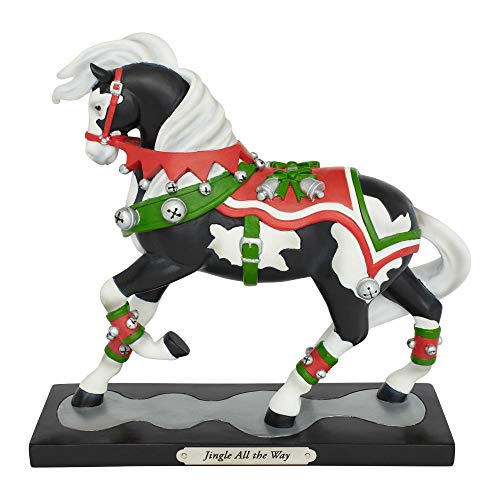 Enesco Trail of Painted Ponies Jingle All The Way Figurine 7.75″ Multicolor