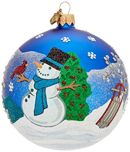 Reed & Barton Ornaments Classic Chrismas Snowman Ball Ornament