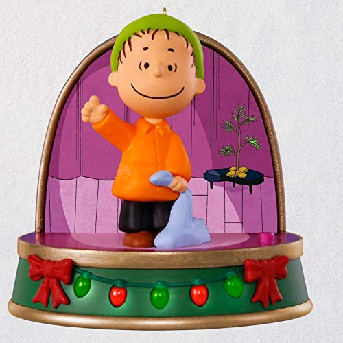 Hallmark A Charlie Brown Christmas Linus Ornament with Sound and Light Movies & TV