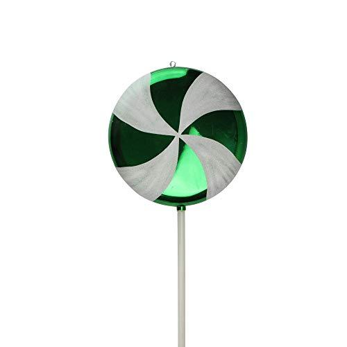 Vickerman Huge Candy Fantasy Green Apple Swirl Lollipop Christmas Decoration Ornament, 40″