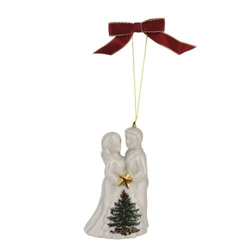 Spode 1667877 Bride Groom Ornament, Green