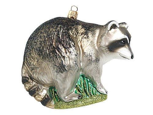 Pinnacle Peak Trading Company Raccoon Polish Glass Christmas Ornament Racoon Wildlife Tree Decoration