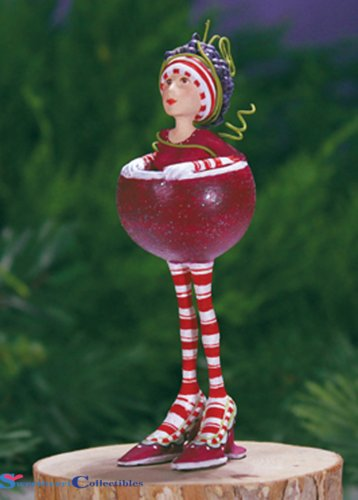 Patience Brewster Large 8.5″ Ruby the Red Wine Girl Christmas Holiday Tree Figural Ornament # 31110