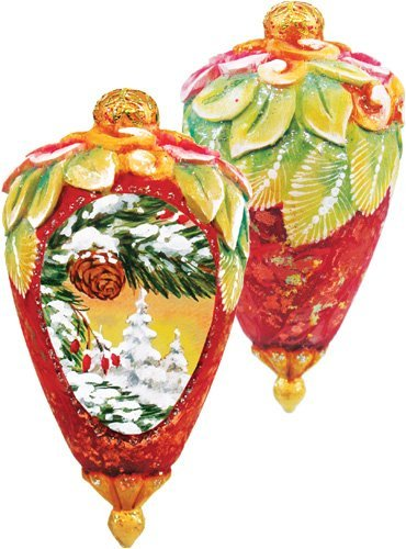 G. Debrekht Winter Forest Ornament, 3″