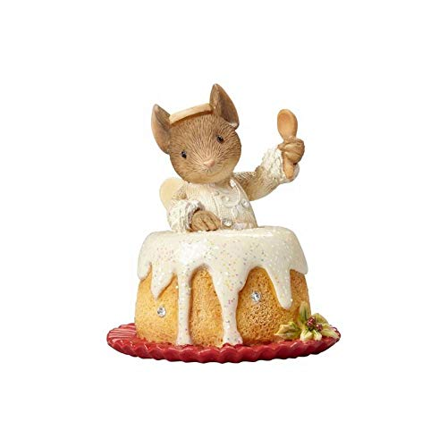 """Enesco 4057662 Heart of """"Christmas Mouse in Angel Food Cake Hanging Ornament"""