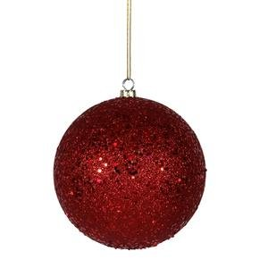 Vickerman 6″ Red Sequin Ball Ornament 4 per Box