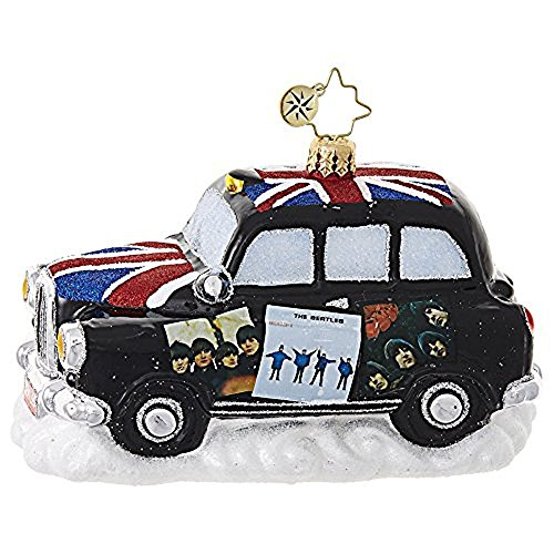 Christopher Radko Beatles Album Cover Cab Christmas Ornament