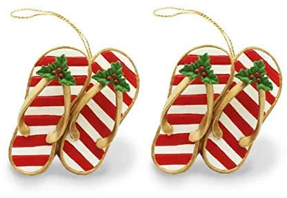 Island Heritage Festive Slippers Ornament ((2.Units))