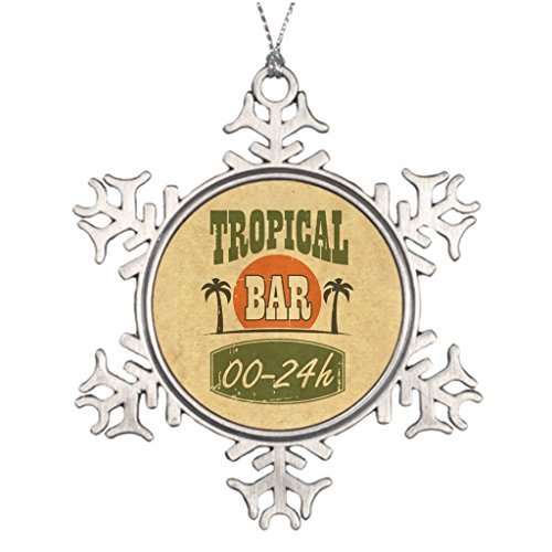 Metal Ornaments Tropicalbar Drink Xmas Trees Decorated Christmas Trees Decorated