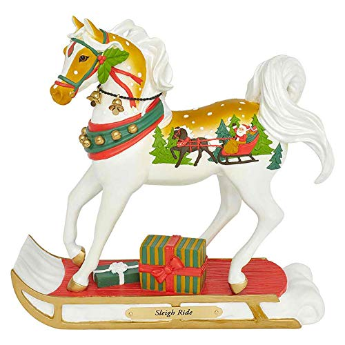 Enesco Trail of Painted Ponies Sleigh Ride Figurine 8″ Multicolor