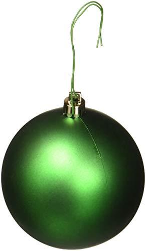 Vickerman Drilled UV Matte Ball Ornaments, 3-Inch, Green, 12-Pack