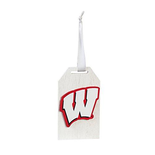 Team Sports America University of Wisconsin-Madison Team Logo Gift Tag Ornament