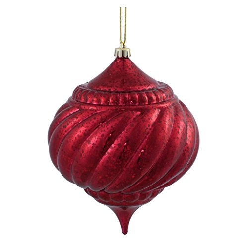 Vickerman 375501 – 6″ Burgundy Shiny Mercury Onion Ball Christmas Tree Ornament (M155705)